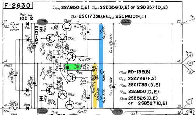 Reparatur einer Sansui BA-2000 und CA-2000[gelöst], Hifi