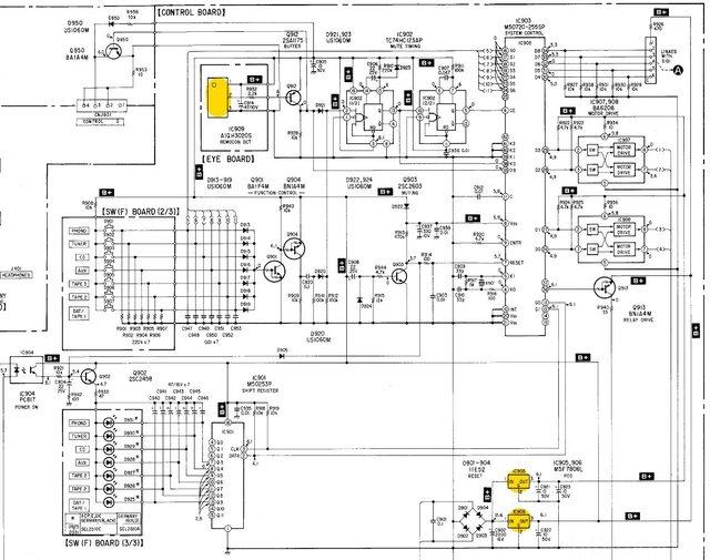 Sony TA-F707ES keine 5V am Infrarot Empfänger, Hifi