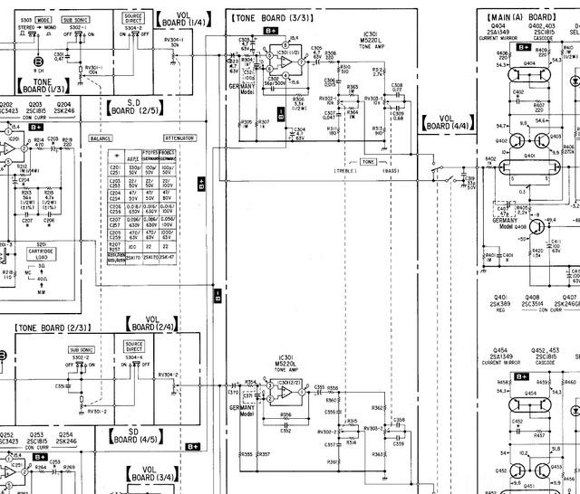 Sony TA-F707ES rauscht auf beiden Kanälen, Elektronik