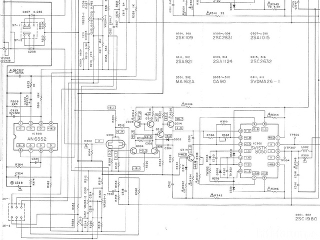 Technics SU V4A Schematic Of Power Amplifier Section