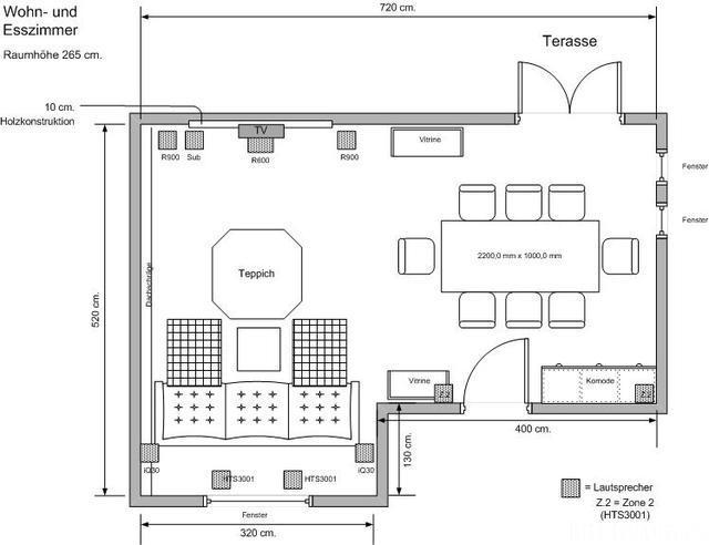 Optimierung der Raumakustik im Wohn und Esszimmer Akustik  HIFIFORUM