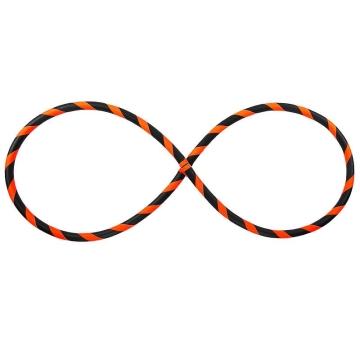 Pliable Cerceau Hula Hoop pour débutants, Neon-Orange Ø105cm