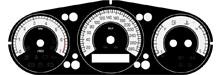Tachoscheiben Jaguar Xj / XJR // MPH nach km/h Umrüstung