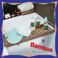 Bambus Badewannenablage Badewannenaufsatz Holz-Ablage | eBay