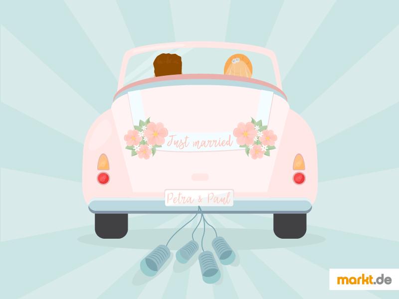 Autoschmuck fr die Hochzeit  marktde