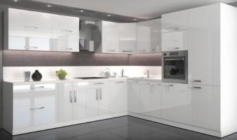 Weiße Hochglanz Küche nach Mass  14405644   Restposten.de