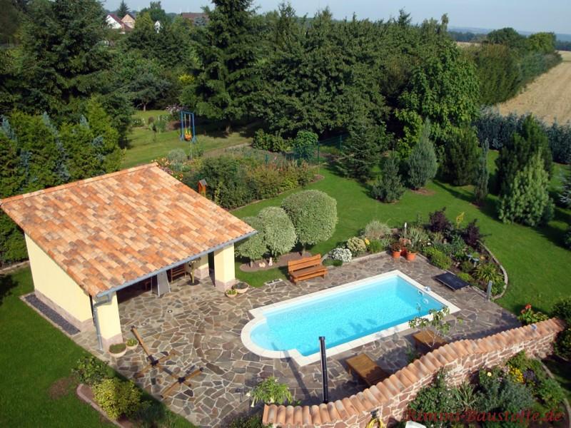 Schoner Garten Mit Pool – Godsriddle Info