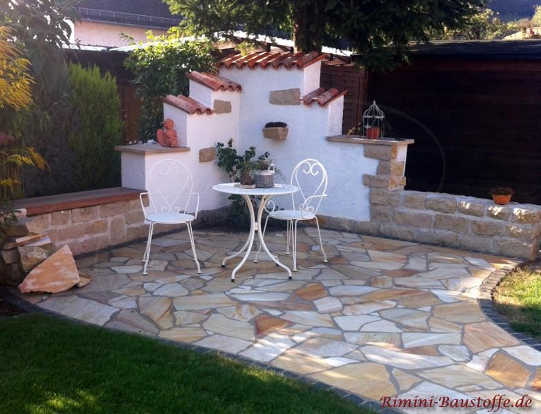 gartenmauer mit sitzecke | moregs, Gartenarbeit ideen