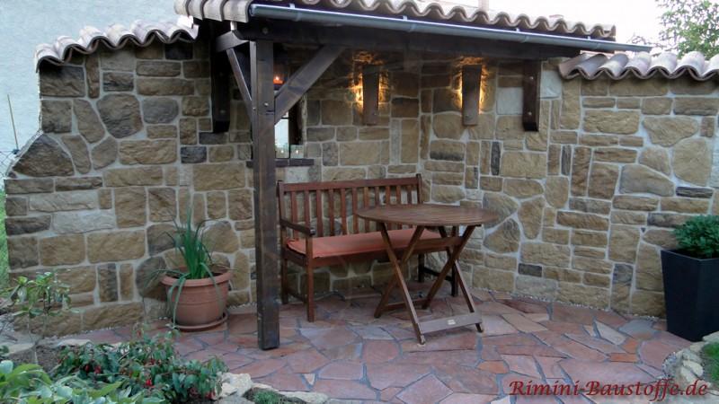 gartenmauer mit sitzecke | moregs, Garten und bauen