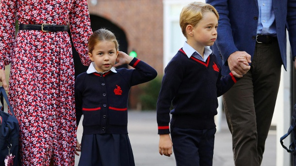 Princess Charlotte and Prince George: William and Kate's children go to a school where suspected coronavirus cases have occurred. (Source: WPA Pool / Getty Images)