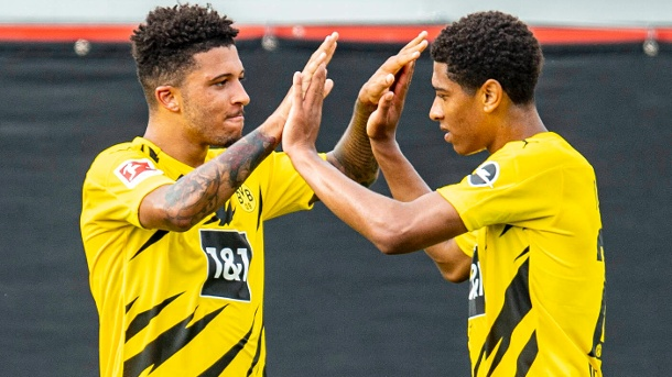 Two Englishmen at BVB: Jadon Sancho (left) and Jude Bellingham.  (Source: imago images / Kirchner-Media)