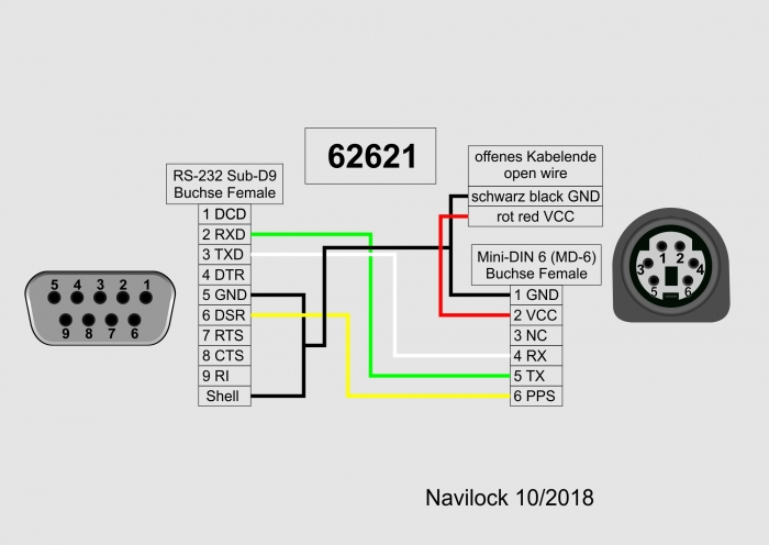 Navilock Products 62621 Navilock Connecting Cable MD6