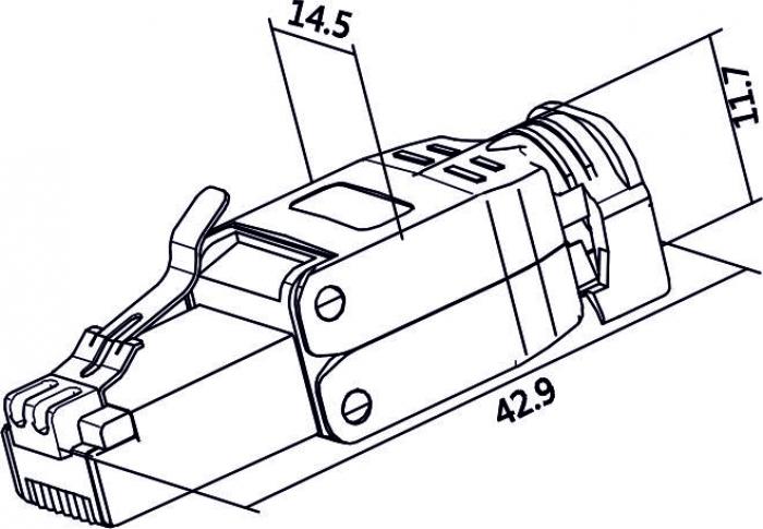 Delock Products 86426 Delock RJ45 plug Cat.6 STP toolfree
