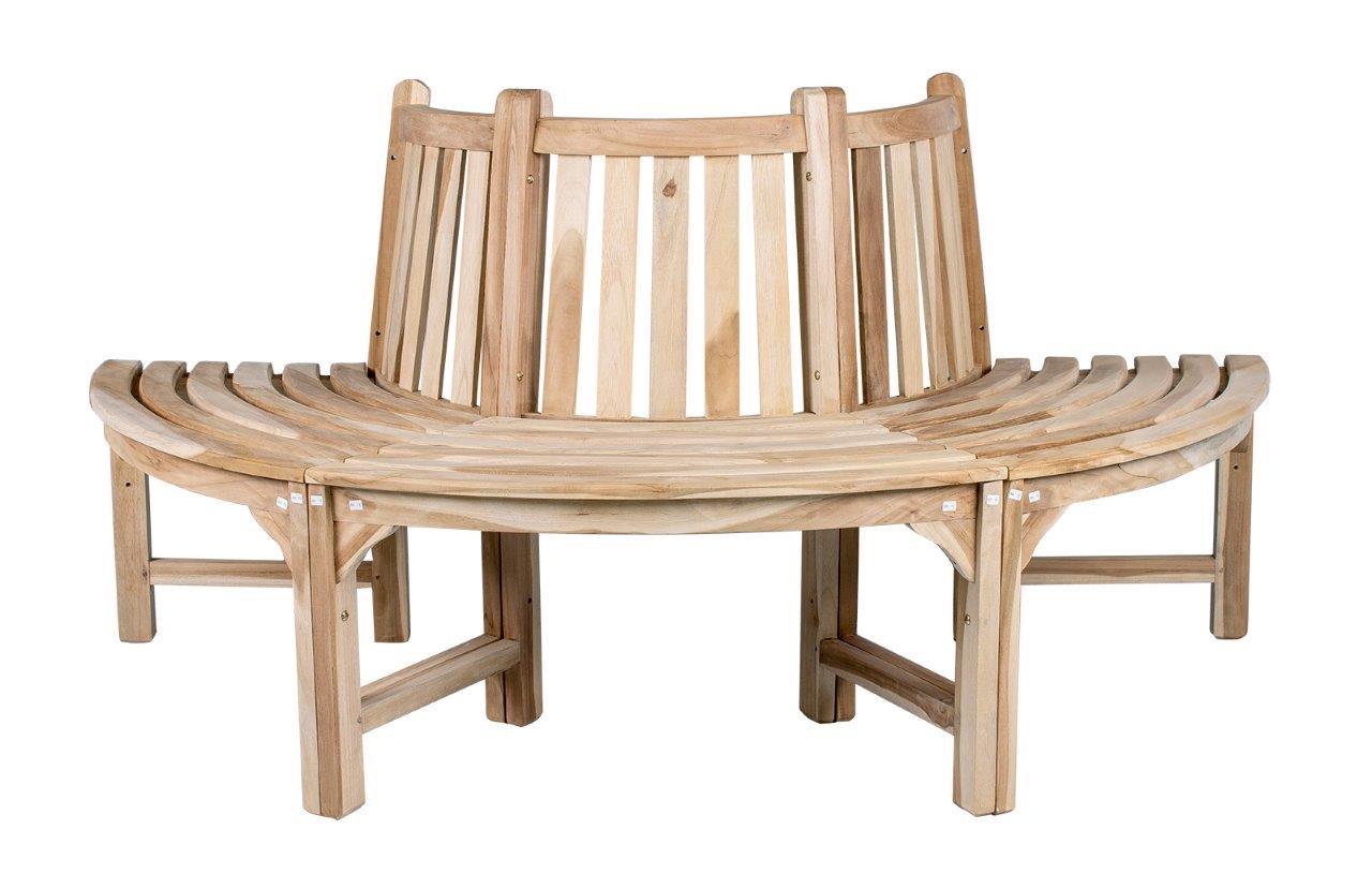 Halbe Baumbank Fixias Holz Gartenbank Rund 034006 Eine