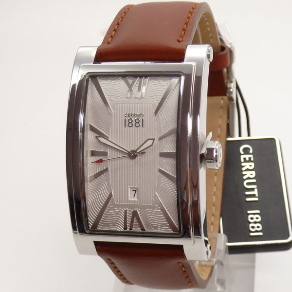 Cerruti 1881 Men' Watch Crb042sn04tn Lucca Leather Wrist