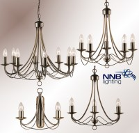 Chandelier Hanging Light Wall Lamp 2,3,5,and 8 Light ...