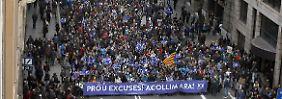 Großdemonstration in Barcelona: 160.000 fordern Aufnahme von Flüchtlingen