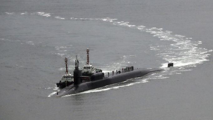 """Atomunterseebot mit taktischen Marschflugkörpern an Bord: Die """"USS Michigan"""" hat in Südkorea angelegt."""