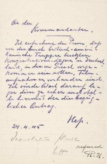 """Das New Yorker Auktionshaus Alexander Historical Auctions, dass die Akte """"zweifelsfrei echt"""" nennt, erhofft sich durch den Verkauf mindestens 225.000 Euro."""