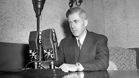 Henry A. Wallace bei einer Radio-Ansprache im Jahr 1942.