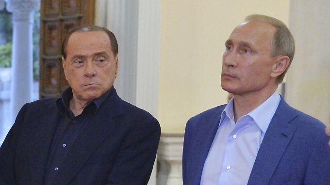 Zwei Gourmets unter sich: Berlusconi und Putin auf der Krim.