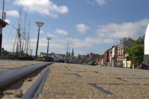 Alte Straßenbahnschienen, Flensburg Hafen