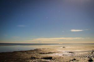 Strand Falshöft bei Vollmond