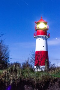 Leuchtturm Falshöft vom Strand
