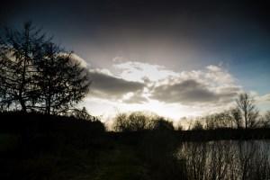 Wolken übern See