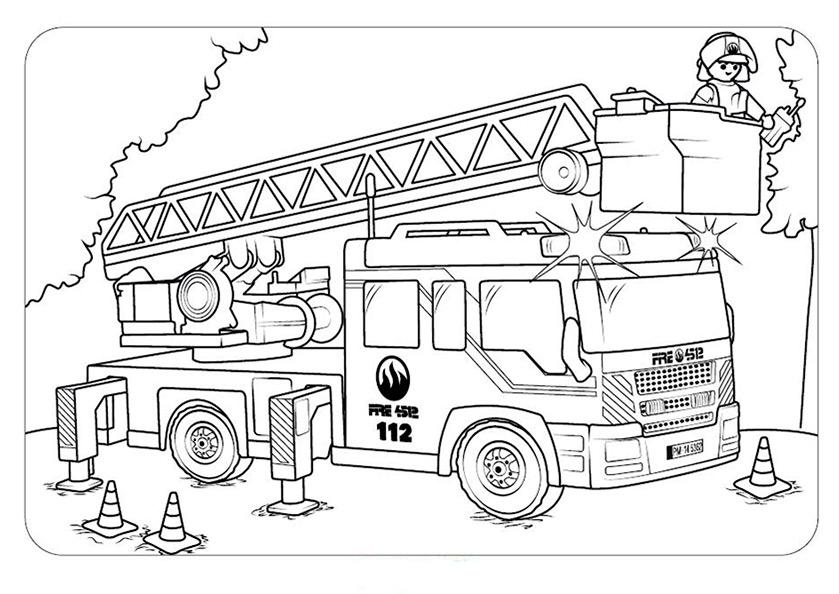 Playmobil Polizei Ausmalbilder - Vorlagen zum Ausmalen