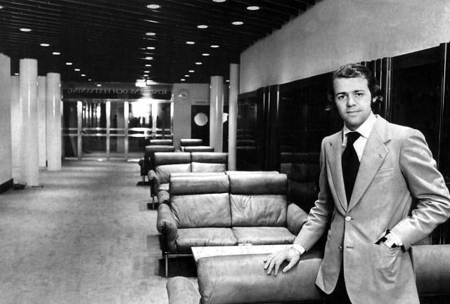 2 mars 1973: Interiör på CH. Vd Nils-Göran Zedrén chefar över hotellet.