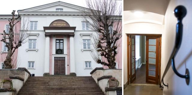 Westergrenska stiftelsen har en storslagen fasad.