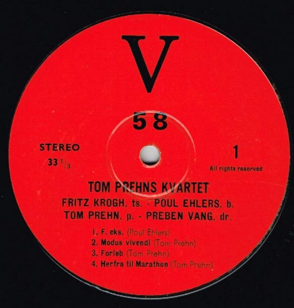 Tom Prehn Kvartet – Tom Prehn Kvartet (V 58, LP, Danmark, 1967). Bild: discogs.com.