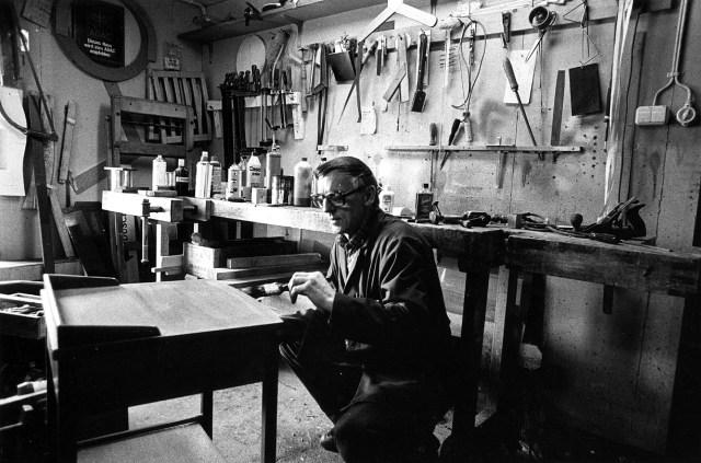 20 mars 1981: Ture Elfving, snickarmästare.