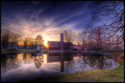 blue sunset in Cottbus