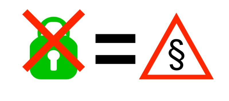 Illustration zum Thema Schadenersatz wegen fehlender Verschlüsselung einer Webseite.