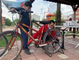 Bisiklet Bakım İstasyonu çocukların ayağına gitti