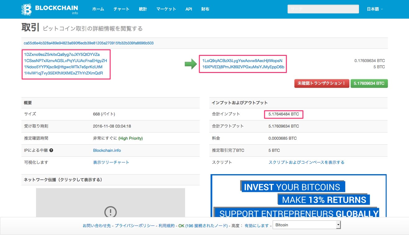 blockchainのtransaction