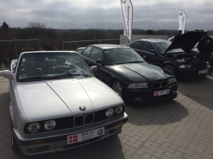 Cathy udstillet til Bayern AutoGroups fejring af BMW's 100 års fødselsdag. I godt selskab, som det ses.