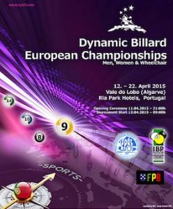 Biliardo Pool Campionato Europeo 2015: locandina
