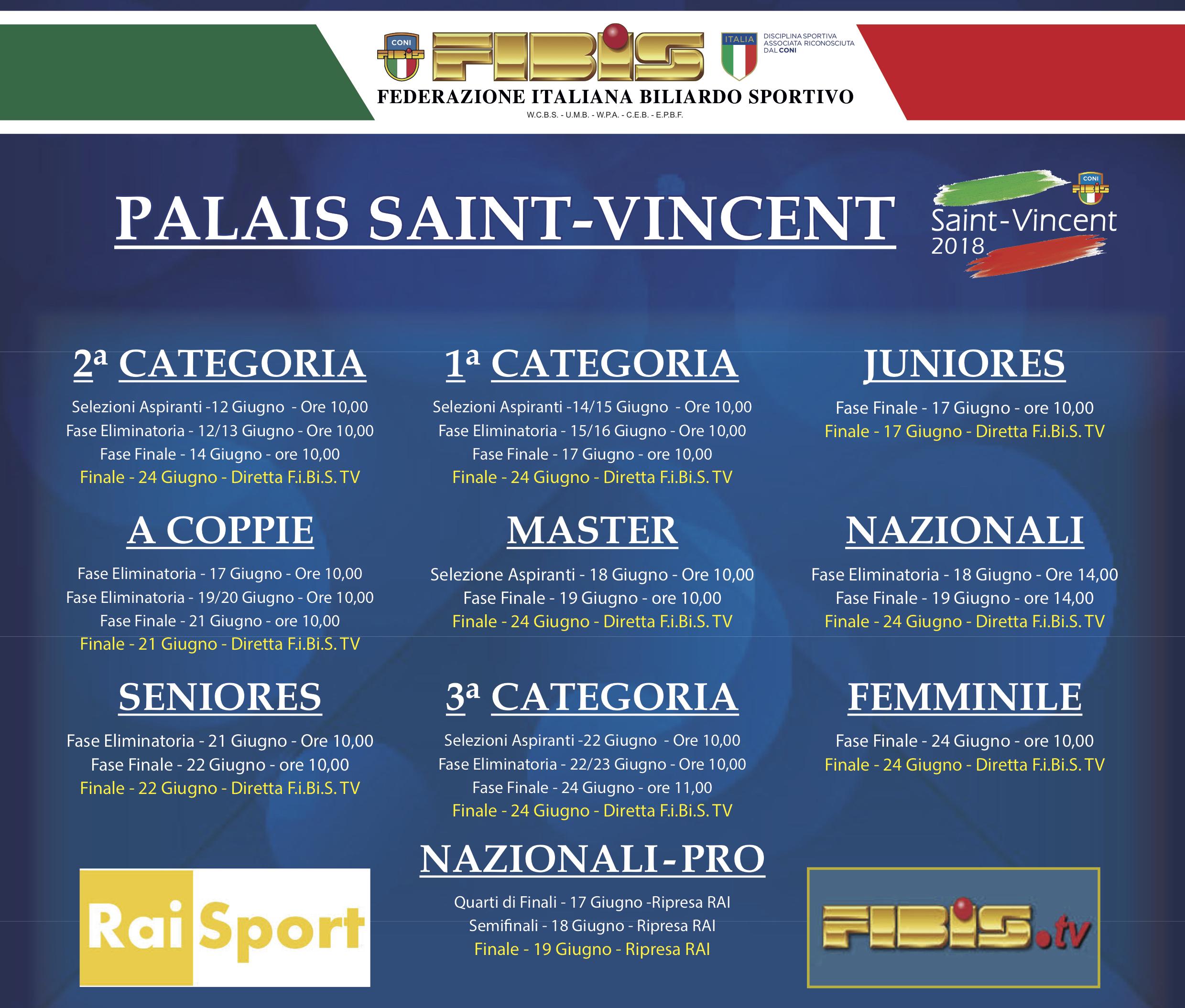 Le Finali del Campionato Italiano di Biliardo 2017 2018: programma per categoria