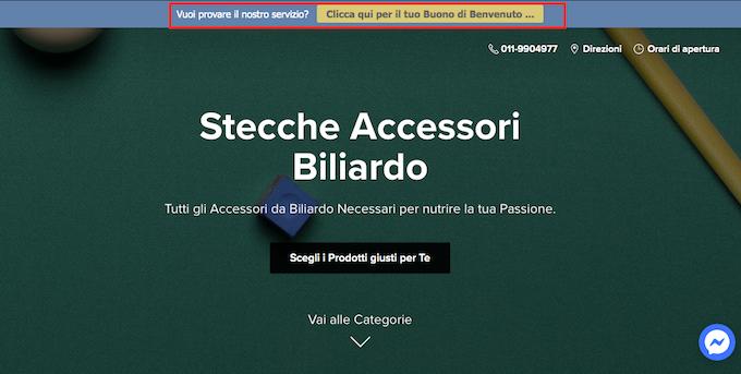 Risparmiare su acquisto accessori da Biliardo: negozio