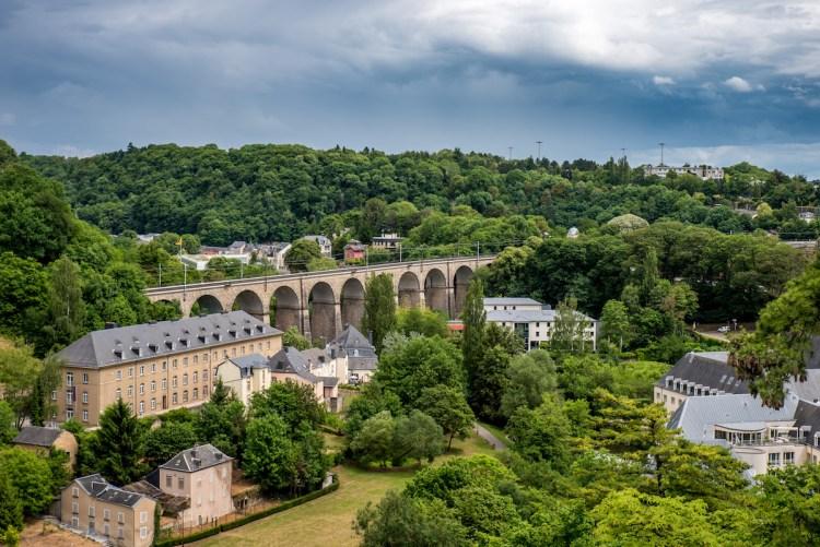 Train in Luxemburg City