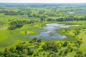 Okavango Delta in Botswana, the world's largest inland delta