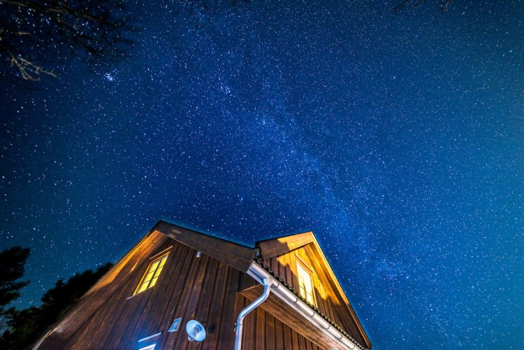 Stars in Bamble, Norway