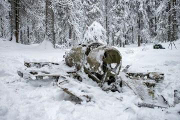 Flyvrak i Maridalen i Nordmarka, Oslo