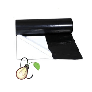 1m x 2m Black & White 125 Micron Plastic Sheeting