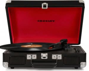 Crosley CR8005D-TU Cruiser Portable 3-Speed Turntable with Bluetooth (Black)