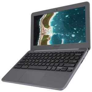 "Asus Rugged Chromebook C202SA-BB01-CB 11.6"" HD Display with 16GB Storage and 2GB RAM Grey Color"