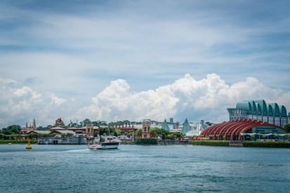 Singapore ferry port view